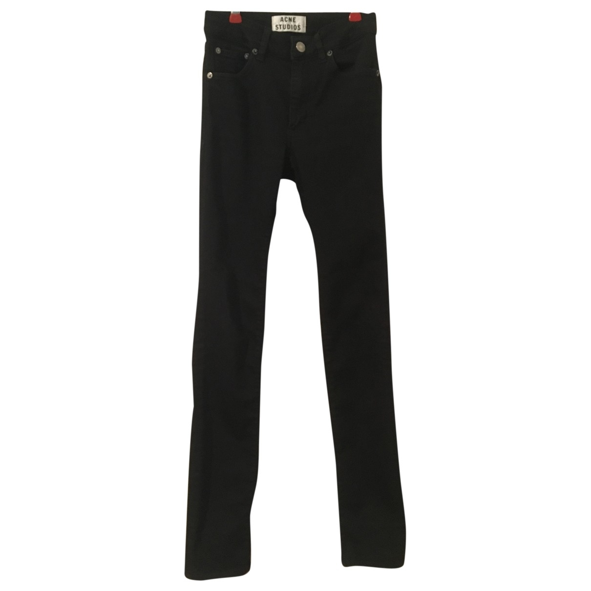 Acne Studios \N Black Cotton - elasthane Jeans for Women 25 US