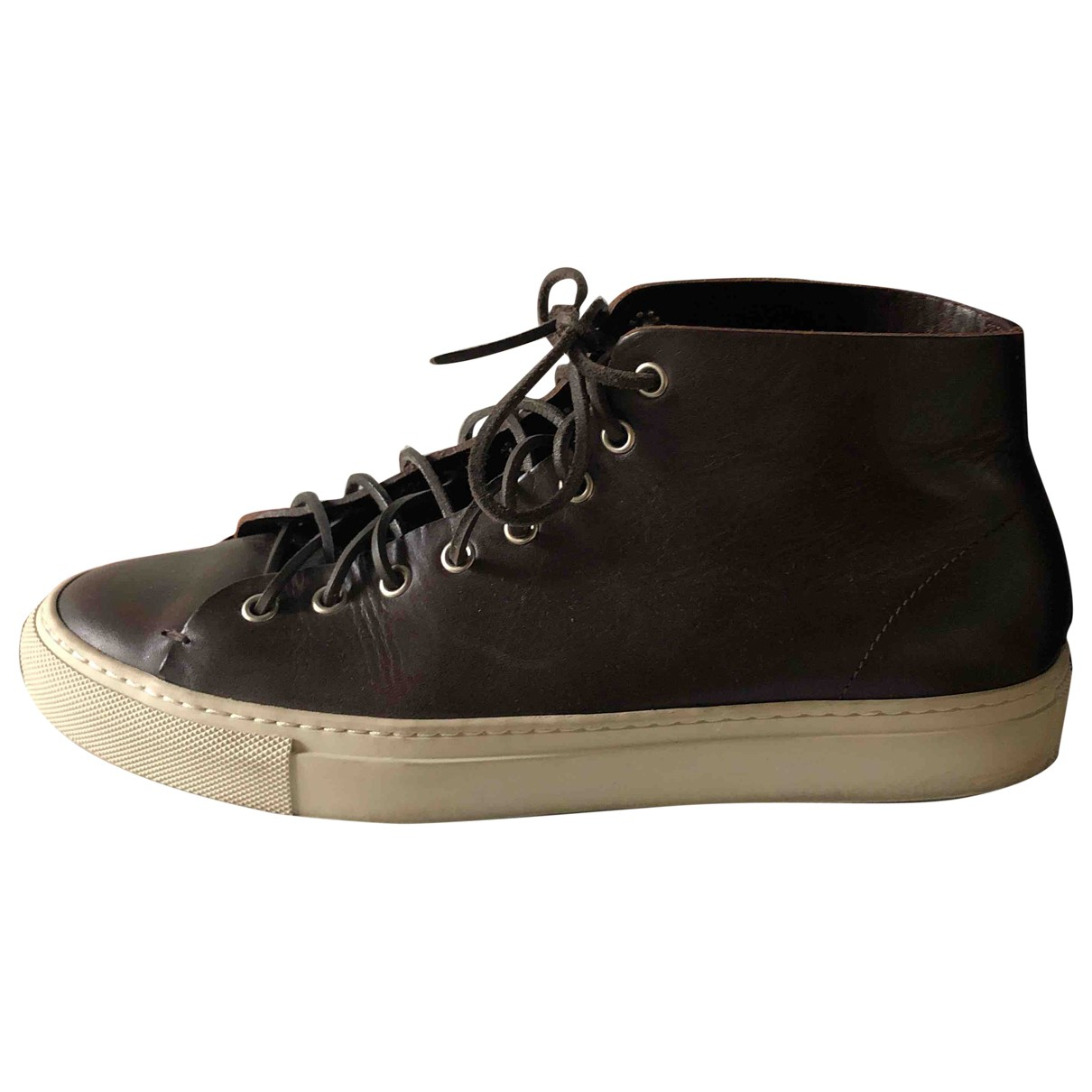 Buttero \N Brown Leather Trainers for Men 41.5 EU