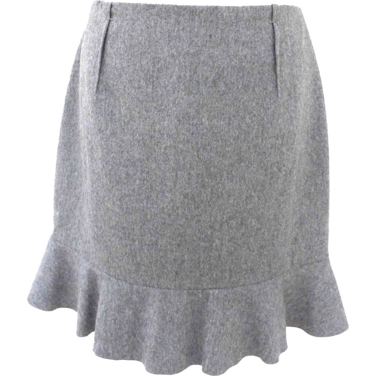 Paule Ka \N Grey Wool skirt for Women 40 FR