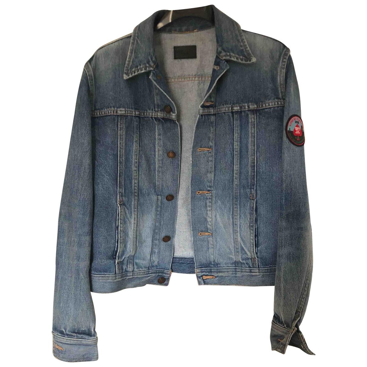 Saint Laurent \N Jacke in  Blau Denim - Jeans