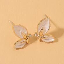 Oil Drop Butterfly Stud Earrings