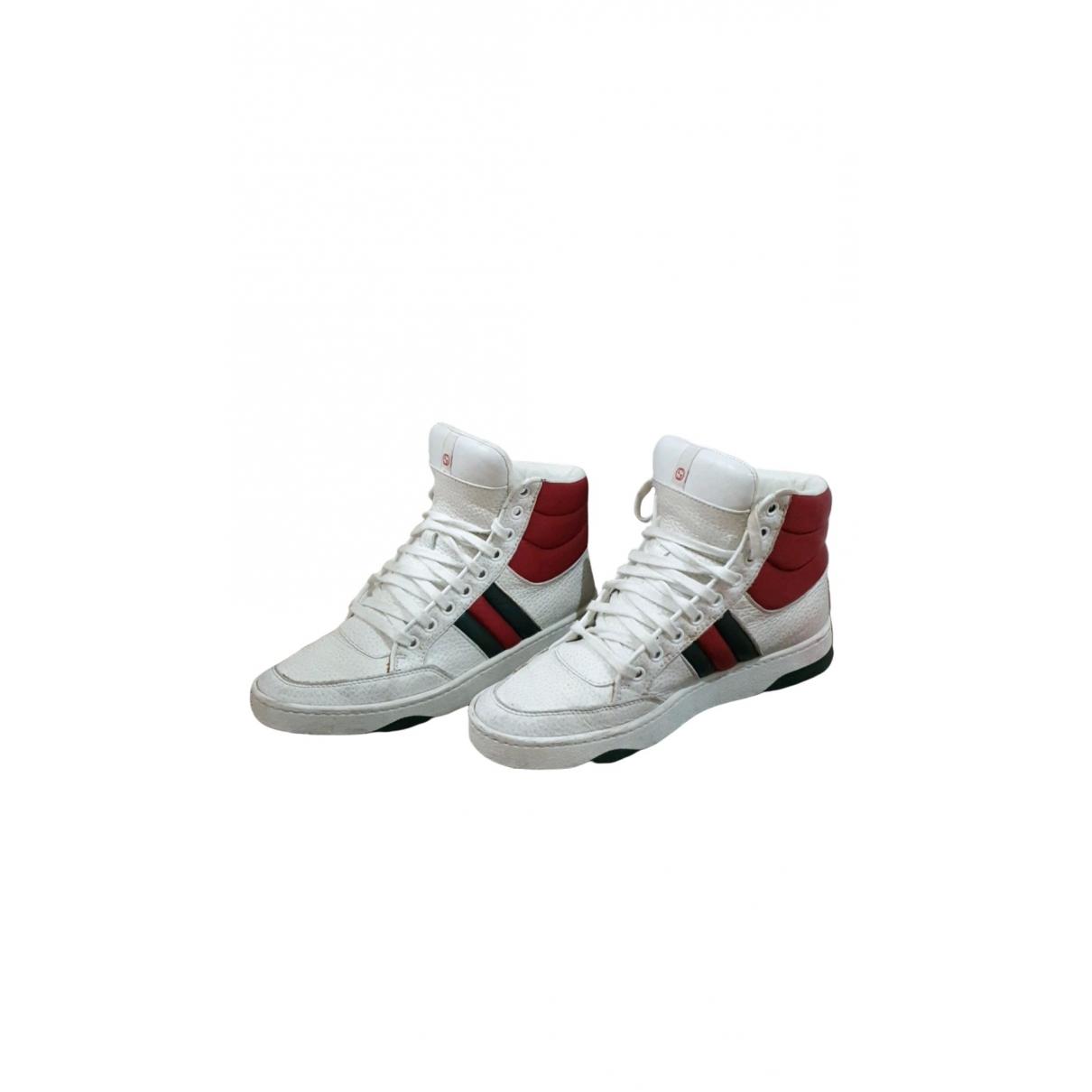Gucci Gucci Dapper Dan Sneakers in  Weiss Leder