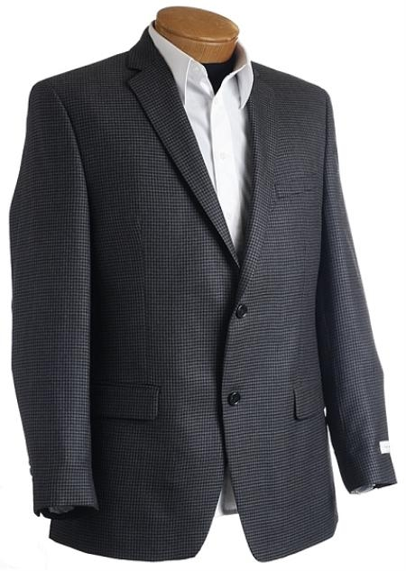 Mens Designer Navy Tweed Sports Jacket