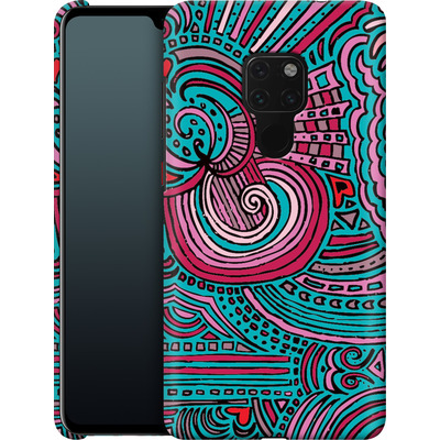 Huawei Mate 20 Smartphone Huelle - Drawing Meditation Turquoise von Kaitlyn Parker