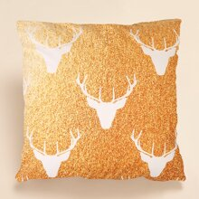 Christmas Deer Print Cushion Cover Without Filler