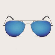 Men Metal Frame Top Bar Sunglasses