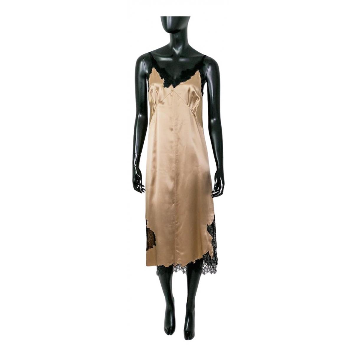 Vestido midi de Seda Helmut Lang