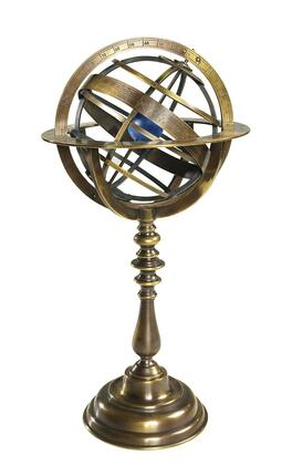 GL052 Bronze Armillary Dial with Brass & Chrome Material  in Bronze
