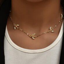 1 Stueck Halskette mit Strass & Biene Dekor