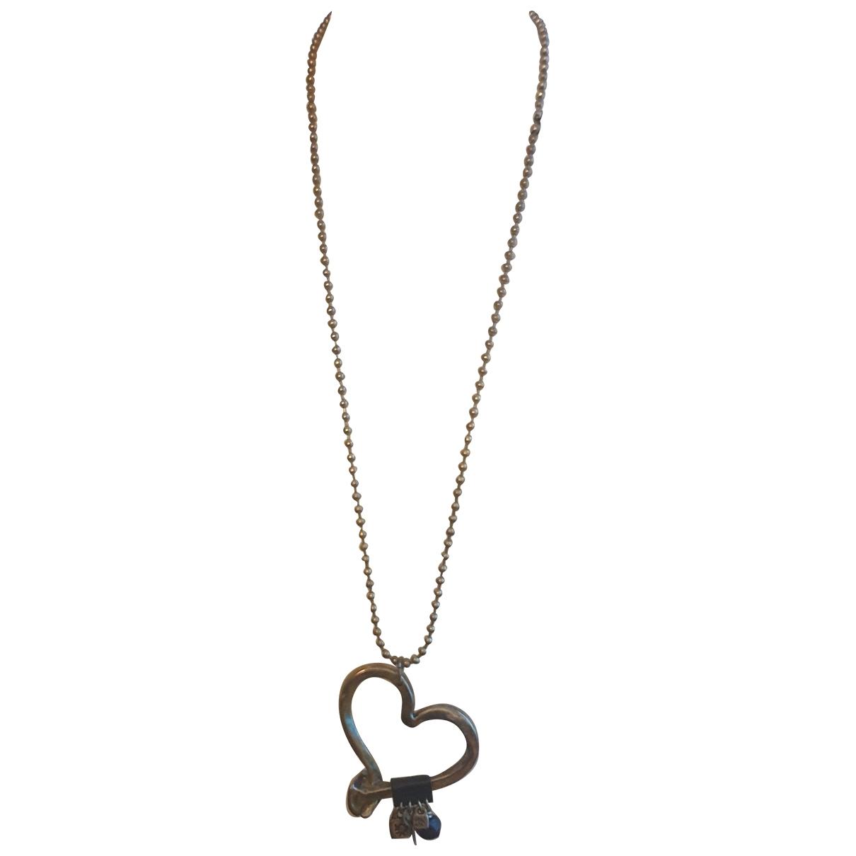 - Collier Motifs Coeurs pour femme en plaque argent - argente