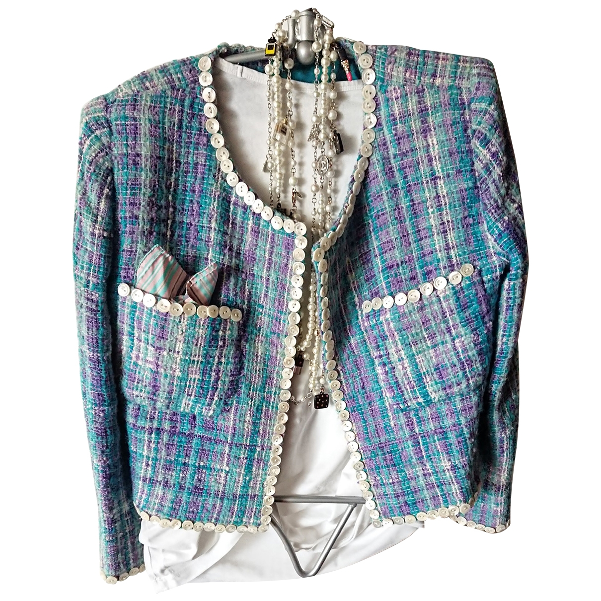 Non Signé / Unsigned \N Multicolour Wool jacket for Women 40 FR