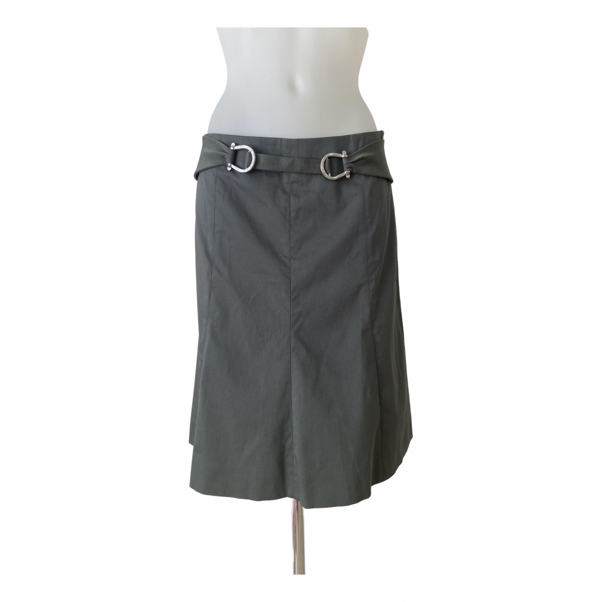 Celine N Khaki Cotton skirt for Women 38 FR