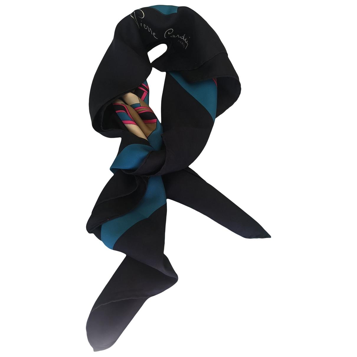 Pierre Cardin \N Schal in  Blau Seide