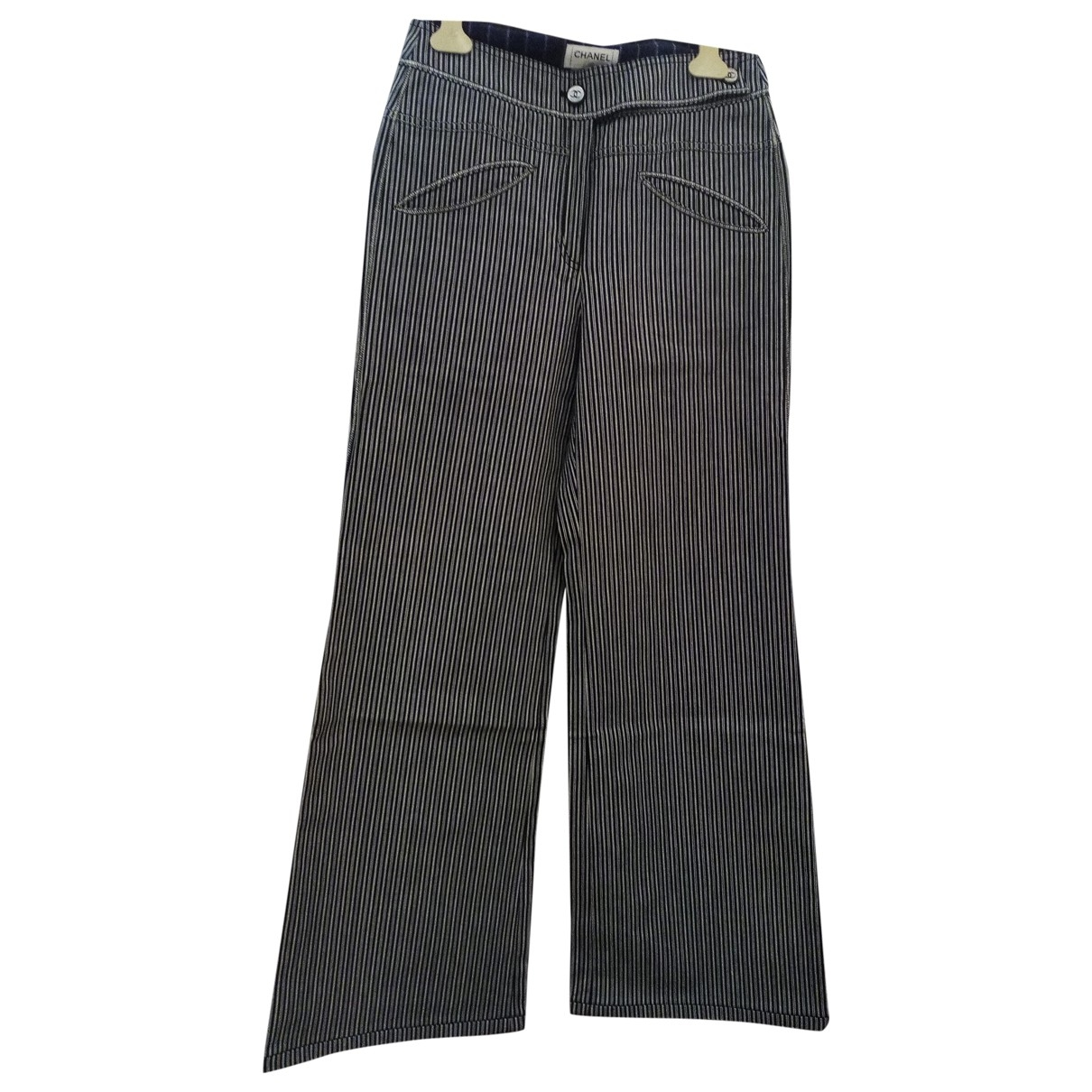 Chanel \N Grey Cotton Trousers for Women 40 FR