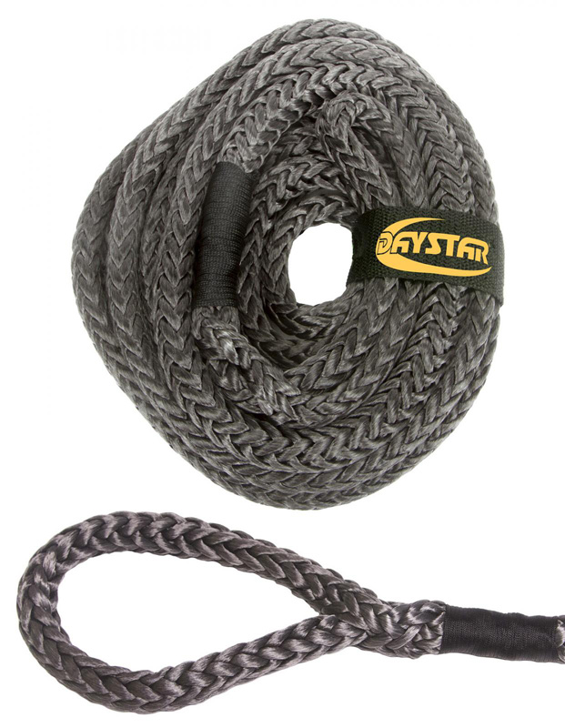 35 Foot Recovery Rope W/Loop Ends and Nylon Recovery Rope Bag 3/4 x 25 Foot Black Rope Daystar KU10204BK