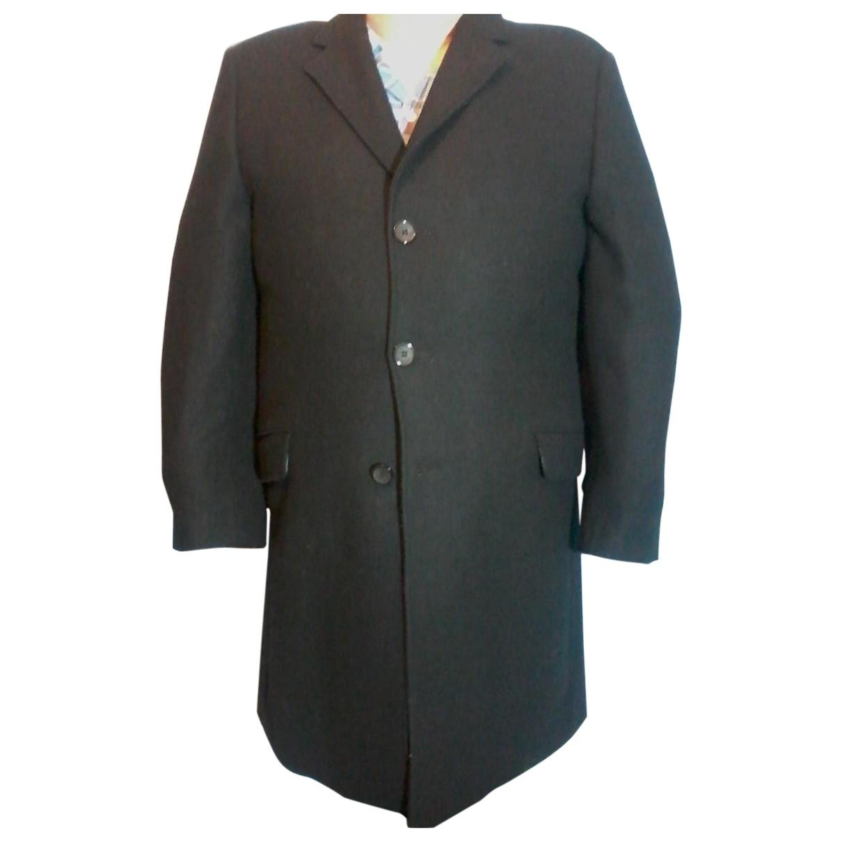 Pierre Cardin - Manteau   pour homme en laine - noir