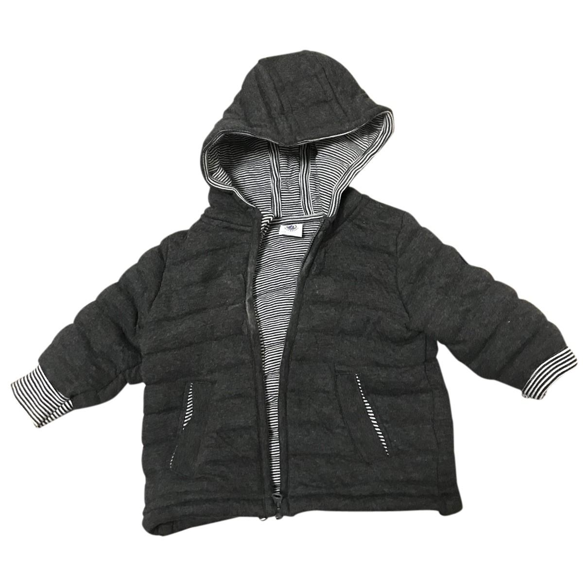 Petit Bateau N Grey Cotton jacket & coat for Kids 12 months - until 29 inches UK
