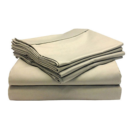 Blissful Living 800tc Yarn Dyed Woven Easy Care Sheet Set with Extra Pillowcases, One Size , Beige