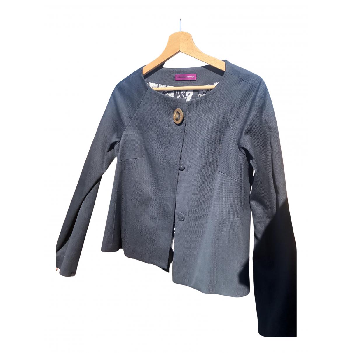Mila Schon Concept - Veste   pour femme en coton - bleu