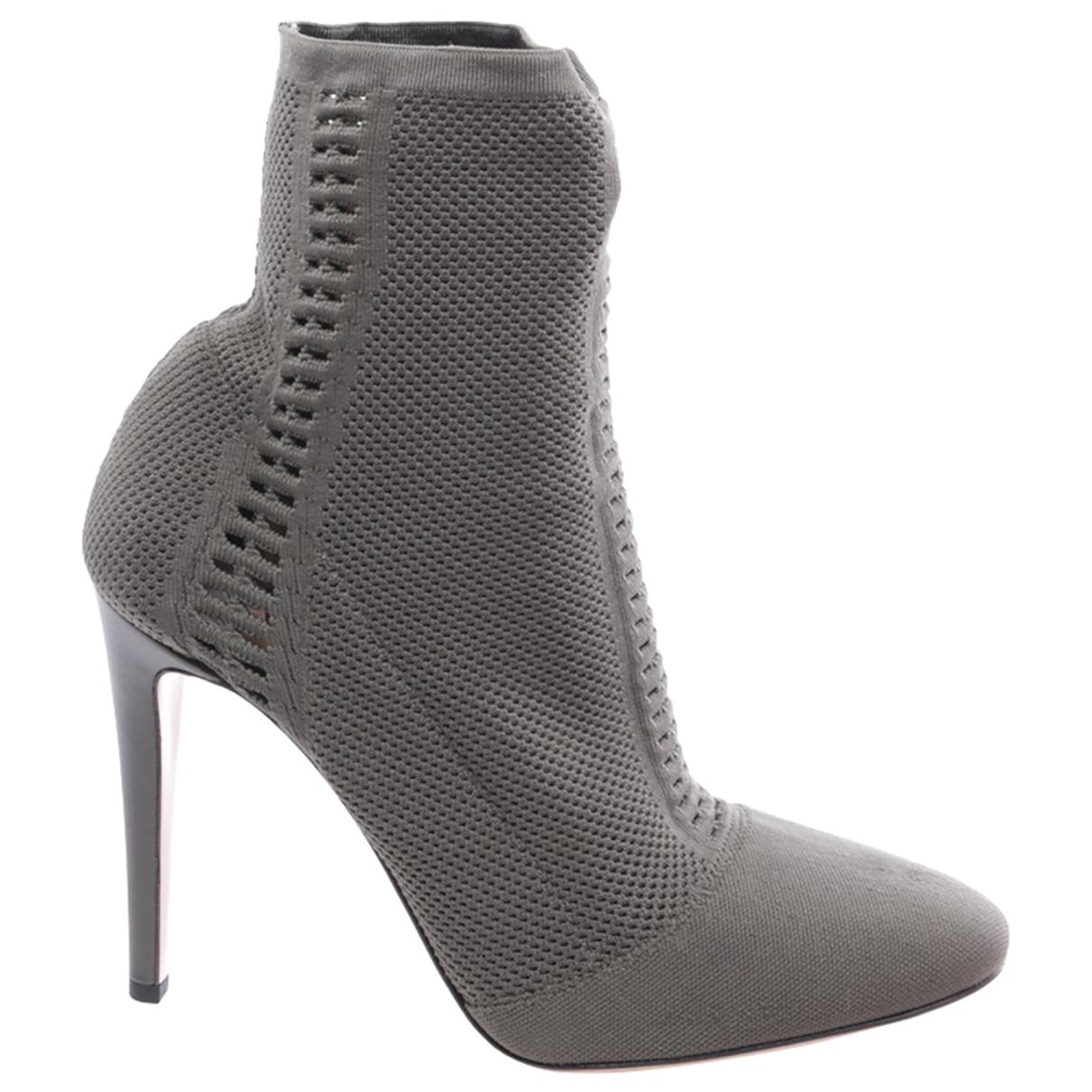 Gianvito Rossi - Boots   pour femme en toile - vert