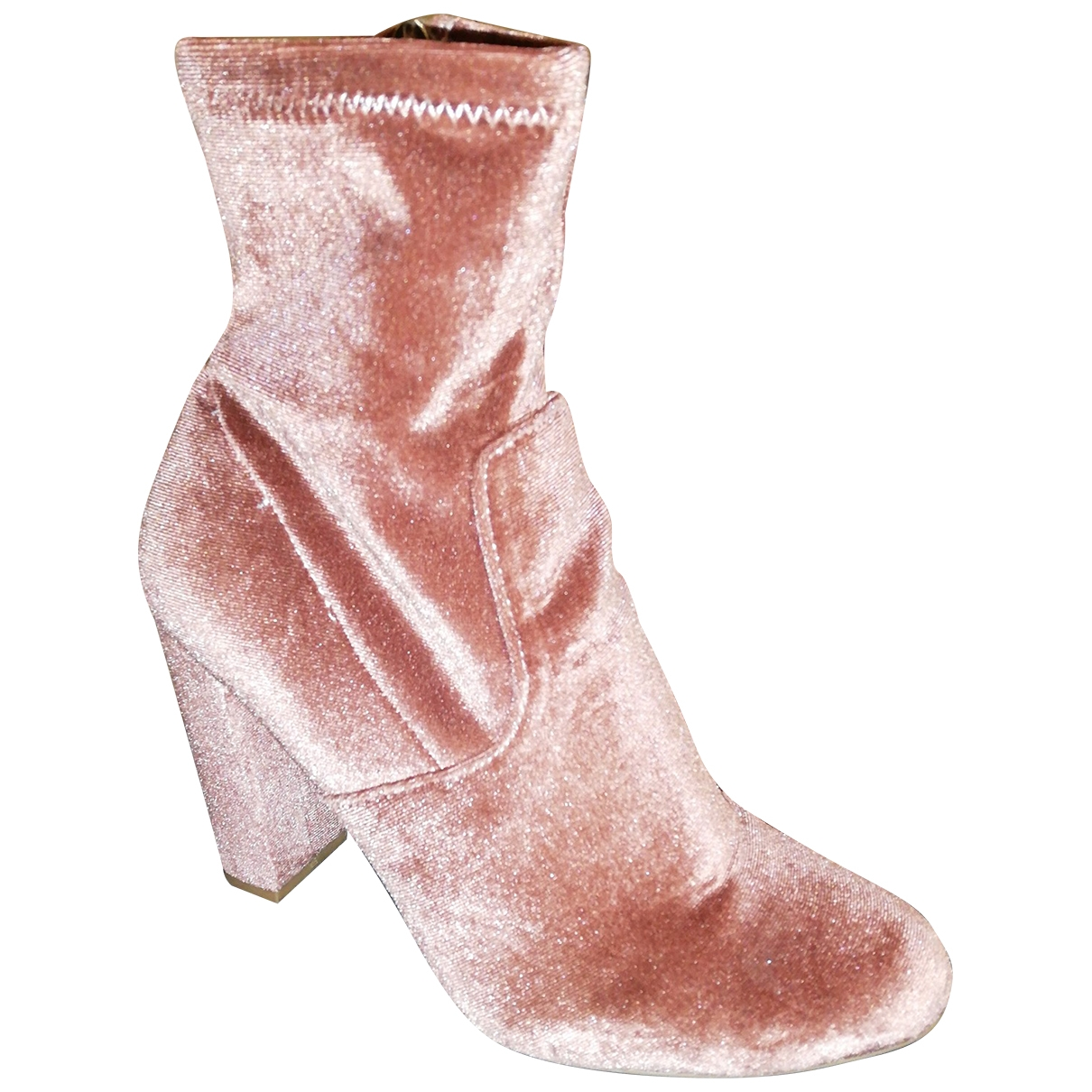 Steve Madden - Boots   pour femme en velours - rose