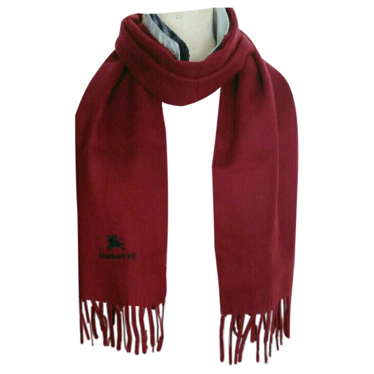 Burberry \N Burgundy Wool scarf for Women \N