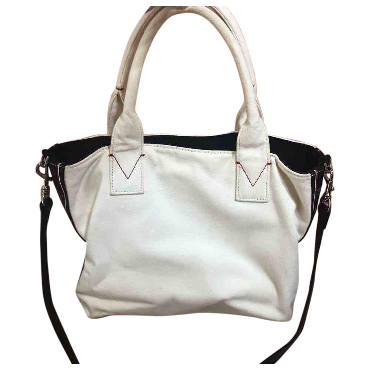 Pinko \N Handtasche in  Weiss Leinen