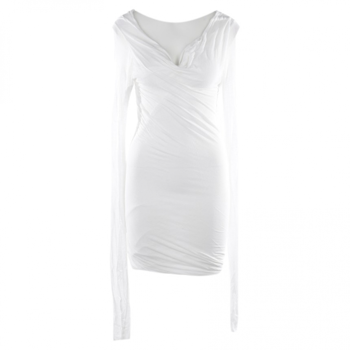 Rick Owens \N White Leather dress for Women 40 FR