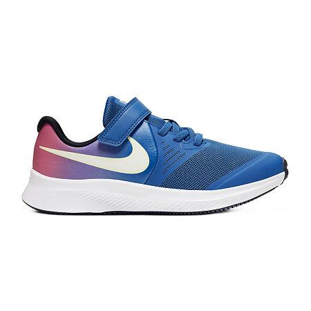 Nike Star Runner 2 D2n Little Kids Girls Running Shoes, 12 Medium, Blue