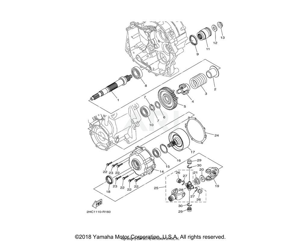 Yamaha OEM B5H-17583-00-00 GEAR, MIDDLE DRIVEN