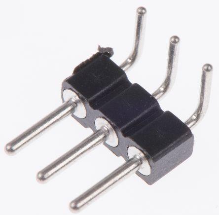 Preci-Dip , 3 Way, 1 Row, Right Angle PCB Header Pin (5)