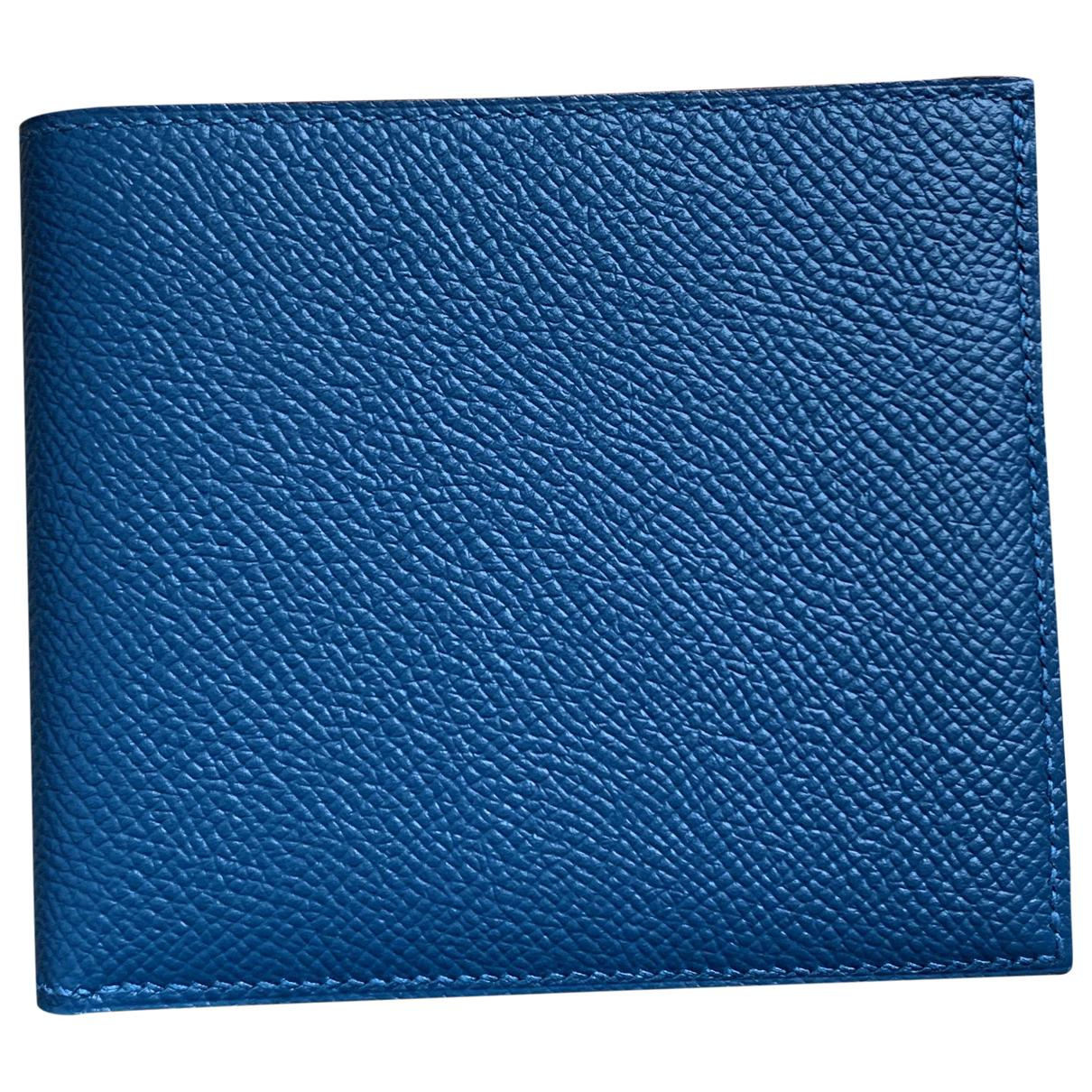 Hermes MC2 Kleinlederwaren in  Blau Leder