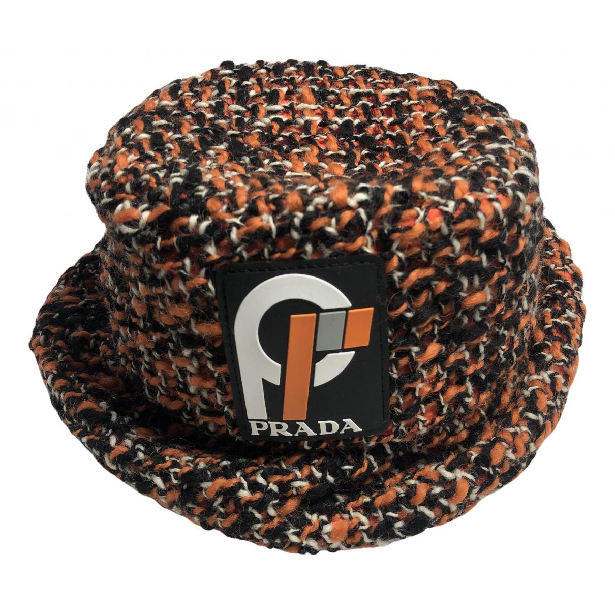 Prada N Orange Wool hat for Women S International