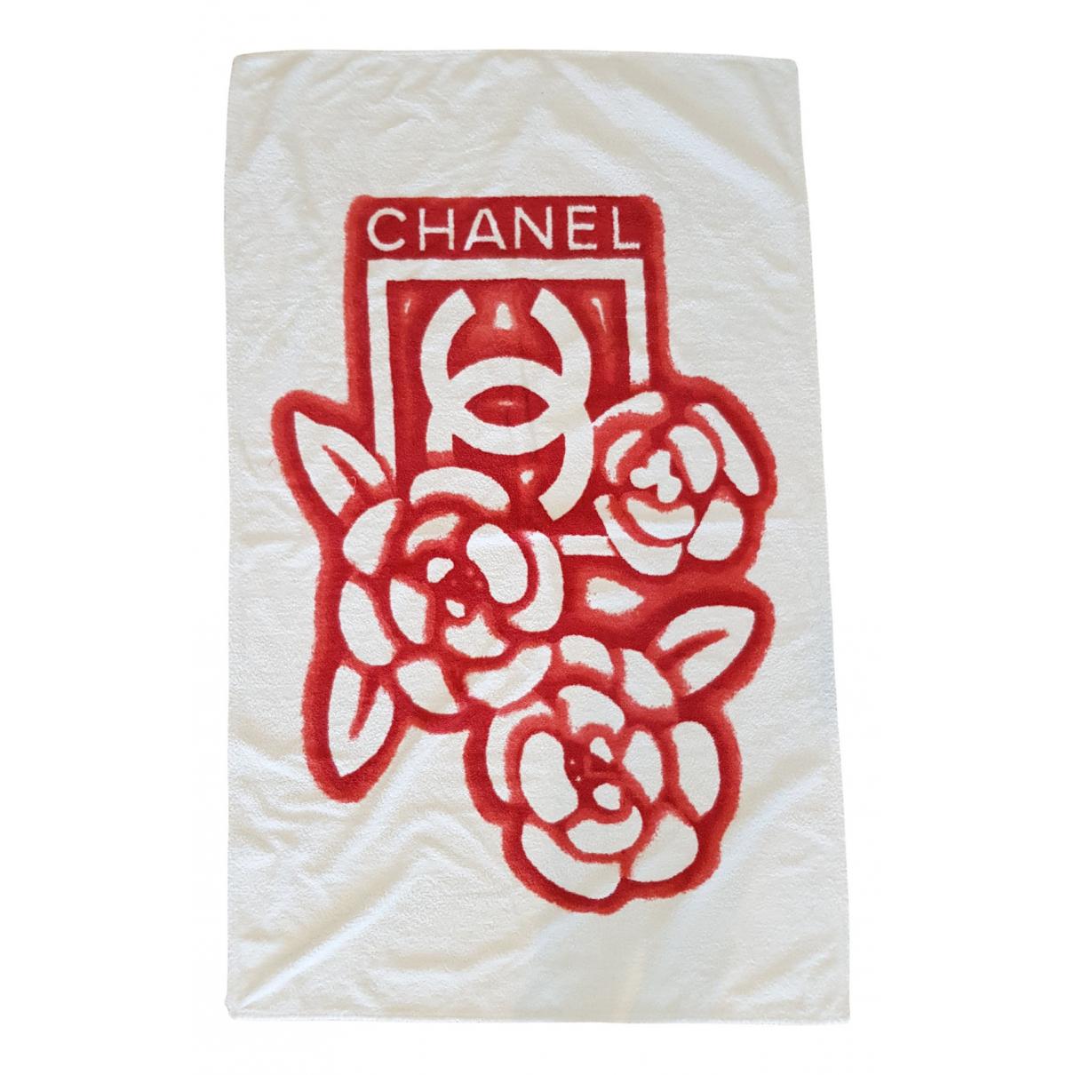 Chanel \N Heimtextilien in  Weiss Baumwolle