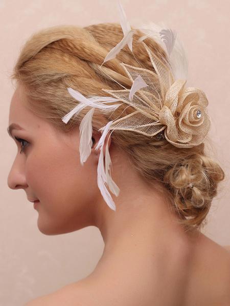 Milanoo Wedding Headpiece Feather Bridal Hair Accessories