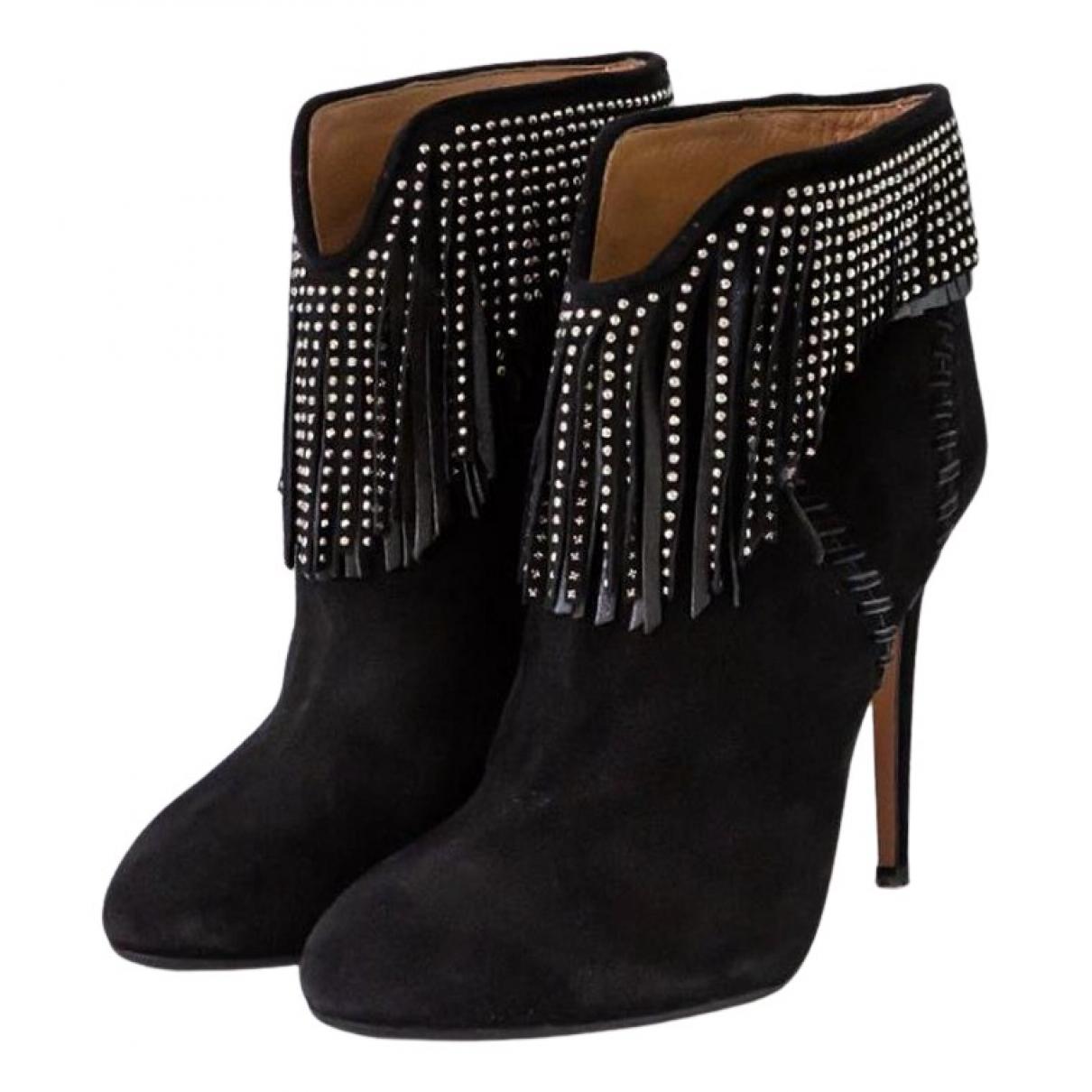 Aquazzura N Black Suede Ankle boots for Women 37 EU