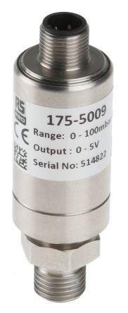 RS PRO Pressure Sensor, 0.1bar Max Pressure Reading Analogue