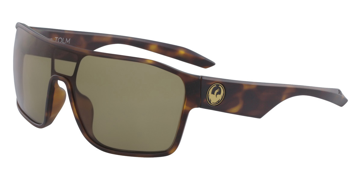 Dragon Alliance DR TOLM LL MI 246 Men's Sunglasses Tortoise Size 47