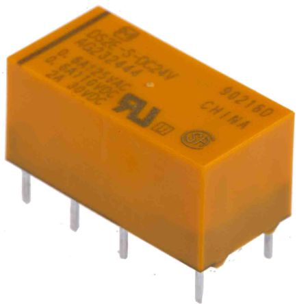 Panasonic , 24V dc Coil Non-Latching Relay DPDT, 3A Switching Current PCB Mount (50)