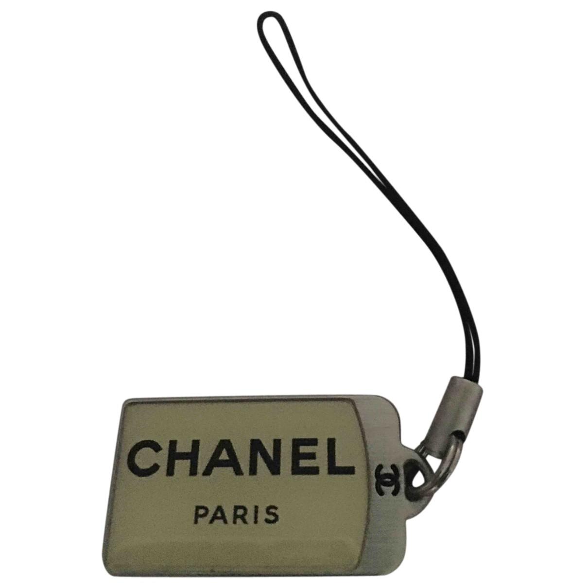 Chanel - Bijoux de portable CHANEL pour femme en cristal - argente