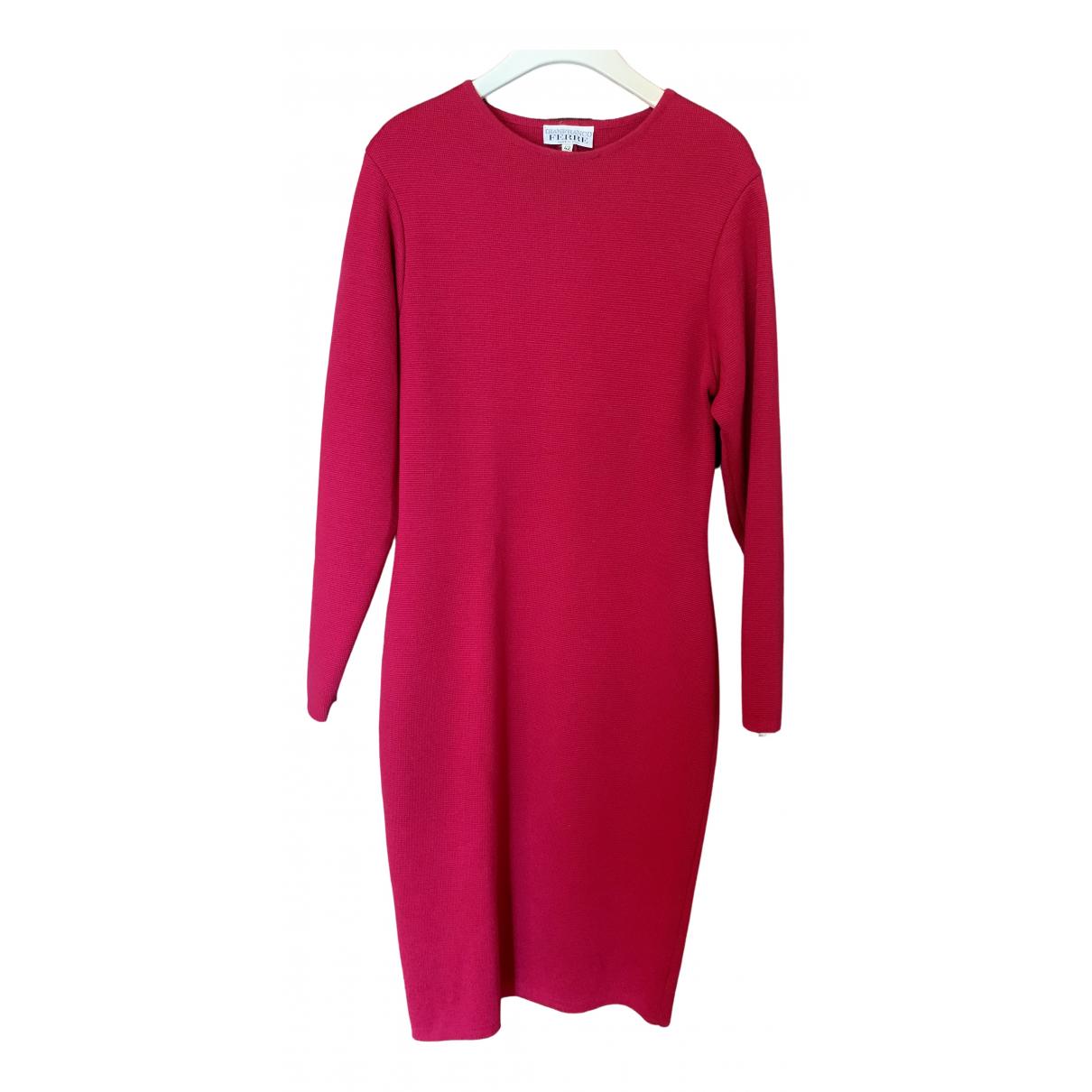Gianfranco Ferre \N Kleid in  Rot Wolle