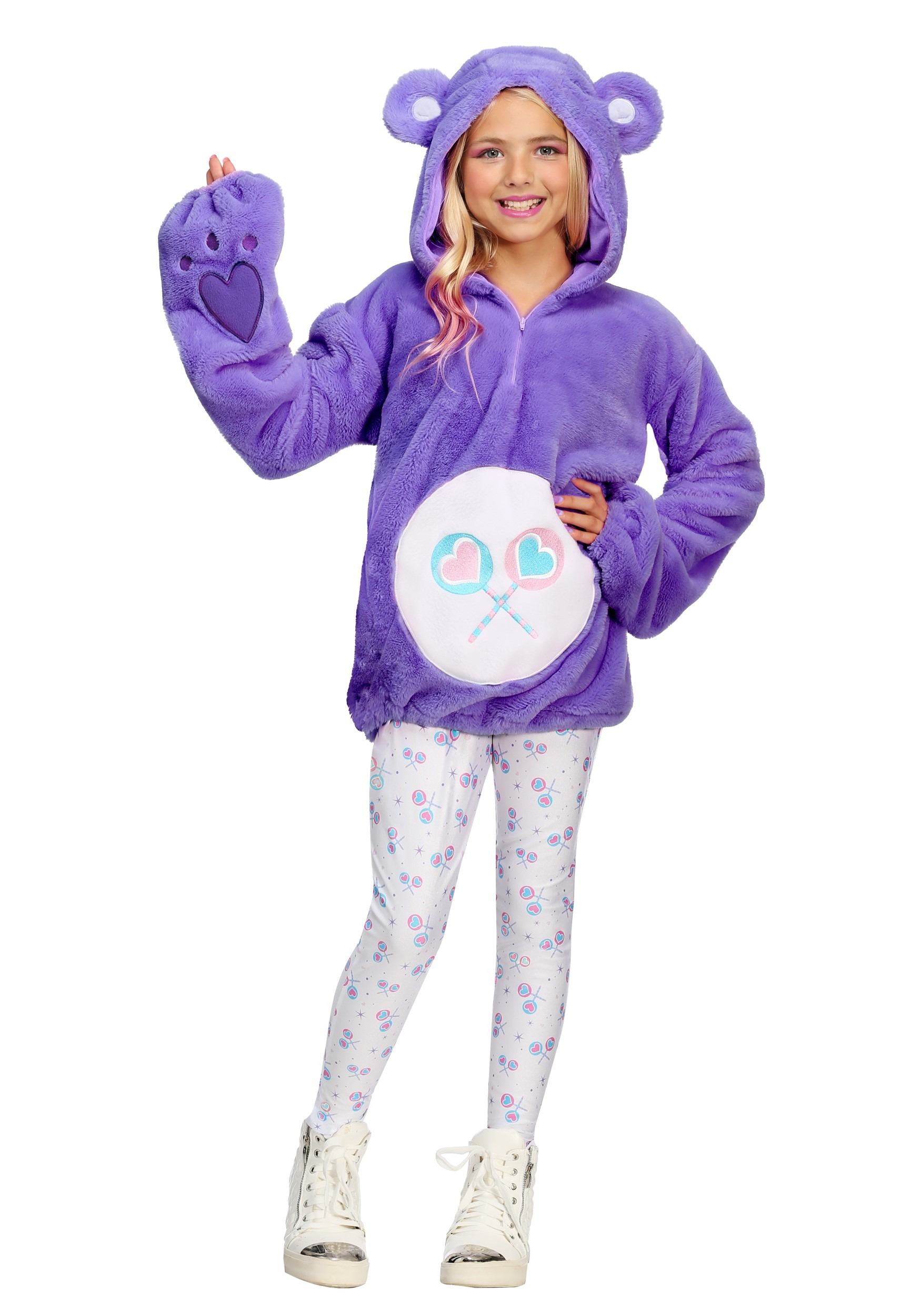 Care Bears Deluxe Share Bear Hoodie Costume for Tweens