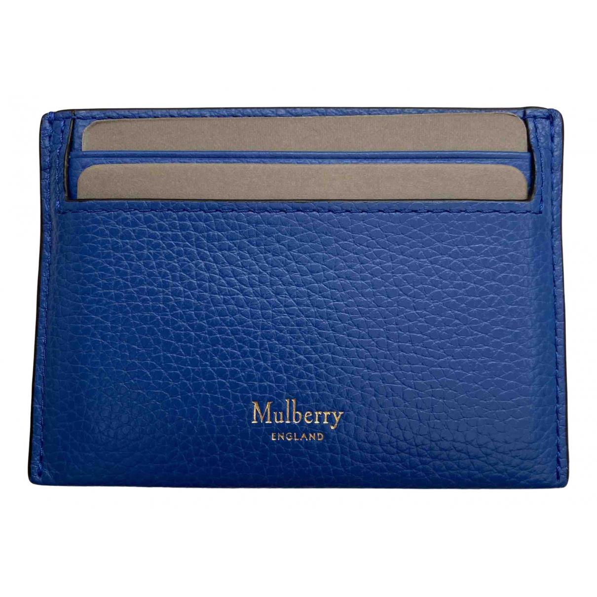 Mulberry - Portefeuille   pour femme en cuir - bleu