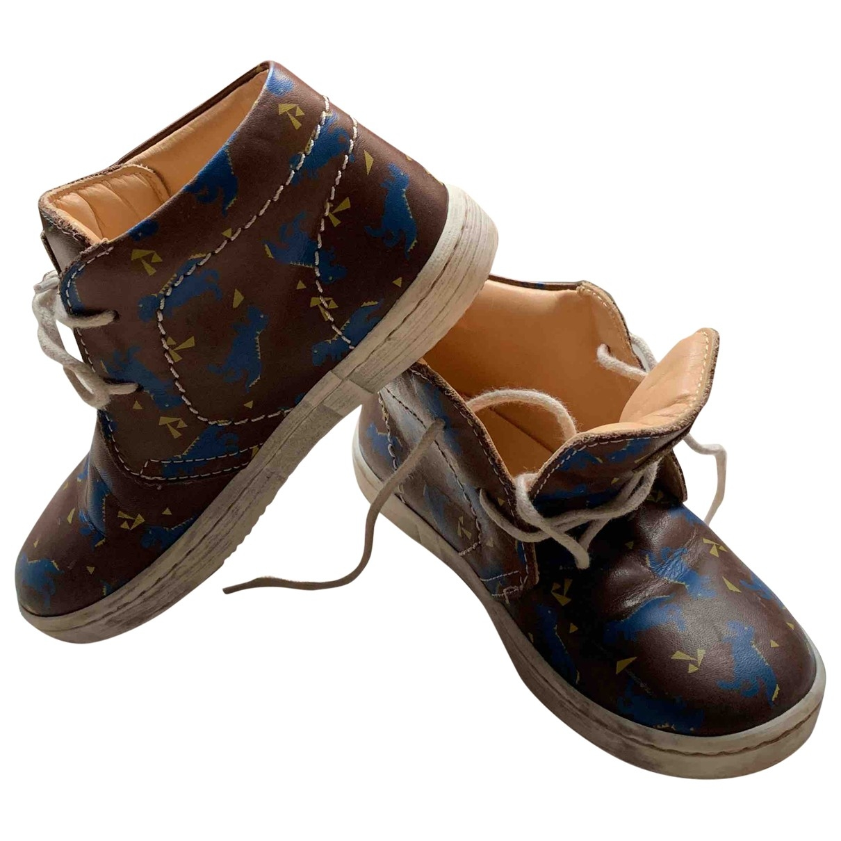 Desa \N Brown Leather Boots for Kids 26 EU