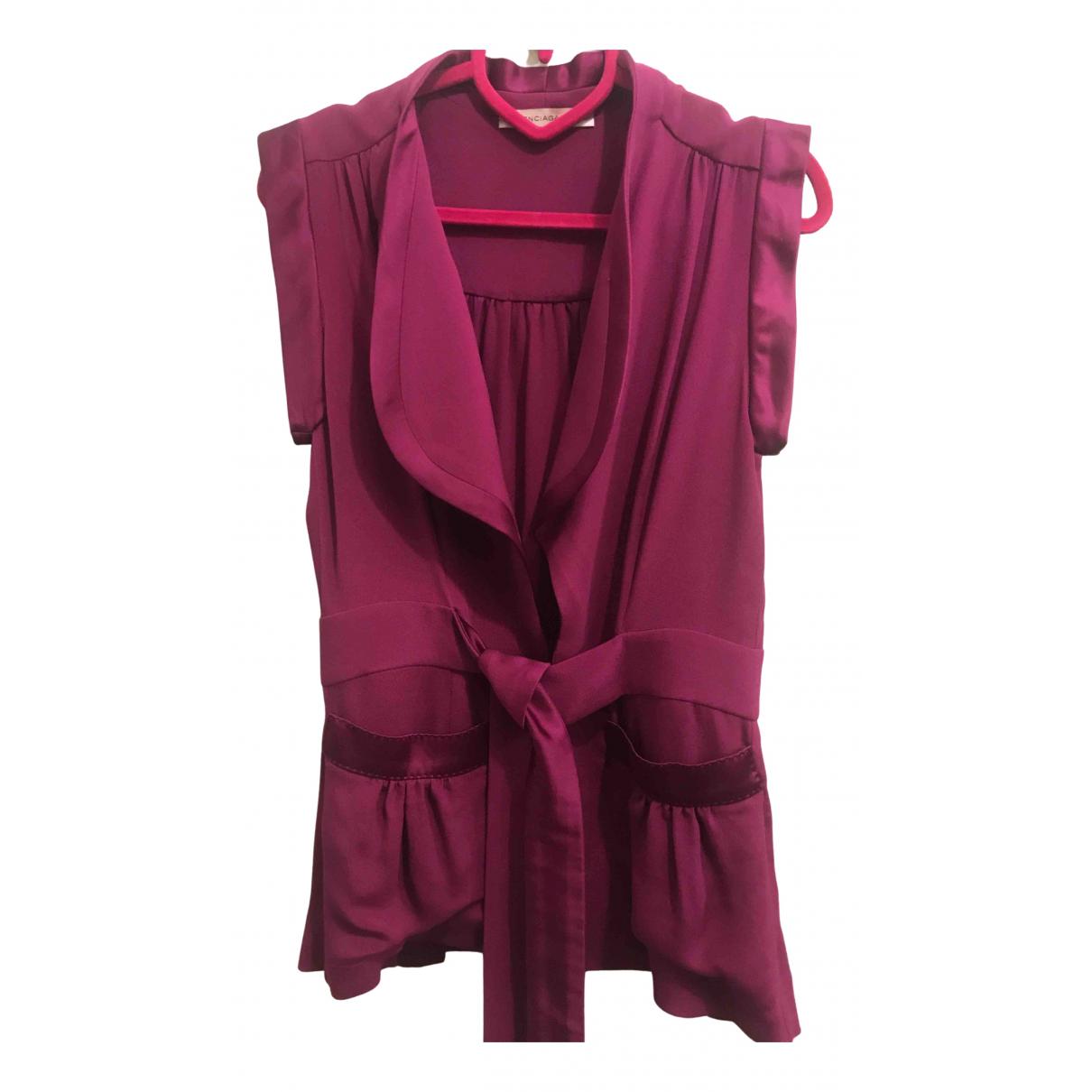 Balenciaga N Burgundy Silk jacket for Women 40 IT