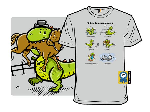 T-rex Summer Games T Shirt
