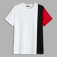 Camiseta de hombres de color combinado