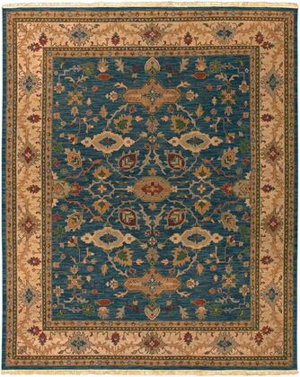 Soumek SMK-51 8' x 10' Rectangle Traditional Rugs in Dark Green  Camel  Burnt Orange  Rust  Grass Green
