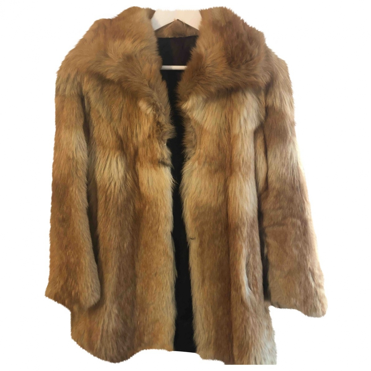 Non Signé / Unsigned \N Gold Fox coat for Women 36 FR