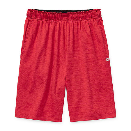 Xersion Little & Big Boys Moisture Wicking Basketball Short, Small (8) , Red